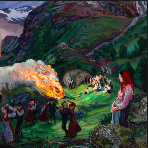 Nikolai Astrup - Midsummer Eve Bonfire (Bergen Art Museum)
